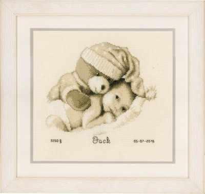 PN-0155574 Teddy and Baby Birth Record (Vervaco)