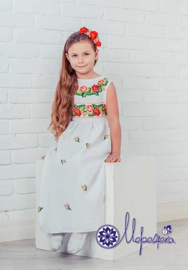 Принцесса-03 Заготовка детского платья (Мережка)