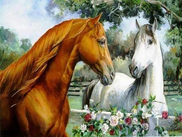 R-0014 Влюбленные кони