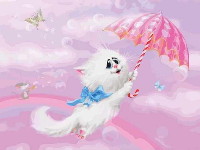 R-0099 Кот с зонтом