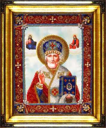 """Р-016 """"Икона святителя Николая Чудотворца"""" - набор для вышивания"""