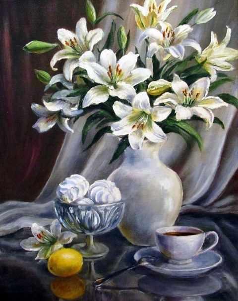 R-0705 Белые лилии