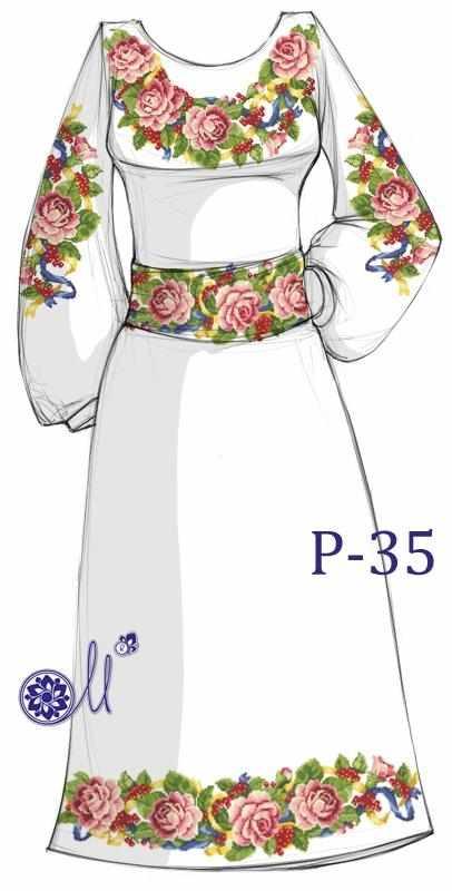 Р-35 Заготовка платья (Мережка)