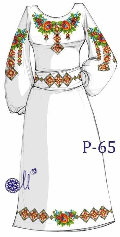 Р-65 Заготовка платья (Мережка)