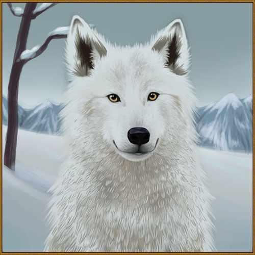 R-706 Снежный волчонок - мозаика Милато