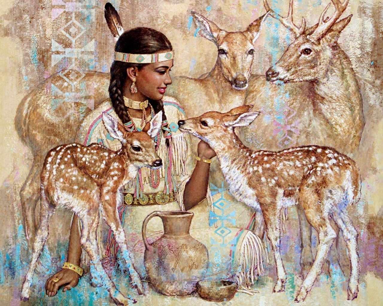 R-931 Индейская богиня - мозаика Милато