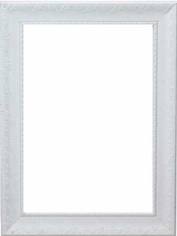 """RAM114034 - рама без стекла с прозрачным дном """"БОТАНИКА"""" 13*18см. цв.белый матовый"""