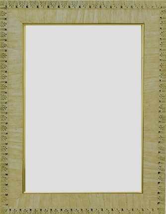 "RAM114045 - рама без стекла с прозрачным дном ""ГОТИКА"" 15*15см. цв. крем"