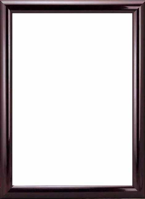 "RAM114097 - рама без стекла с прозрачным дном ""АФТОГРАФ"" 21*30см. цв. махагон"