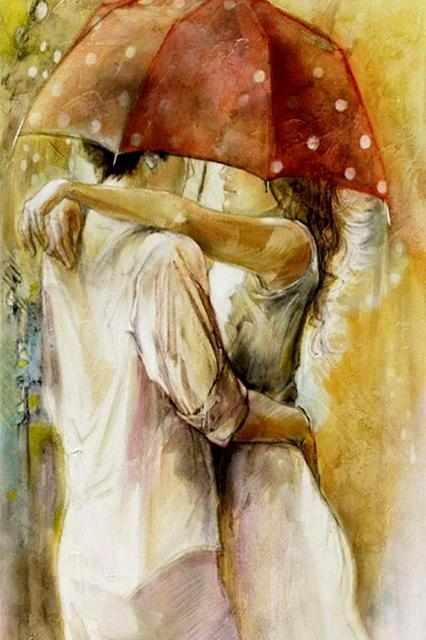 RDG-0331 Двое под зонтом. Любовь