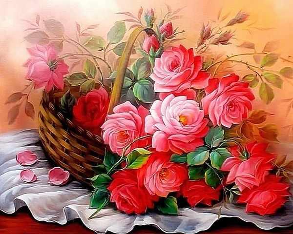 RDG-0702 Розы в корзине