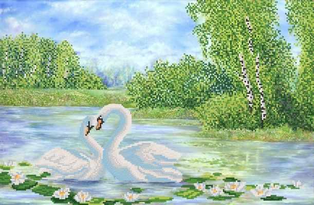 РКП-2-034 Прекрасные лебеди - схема (Марiчка)