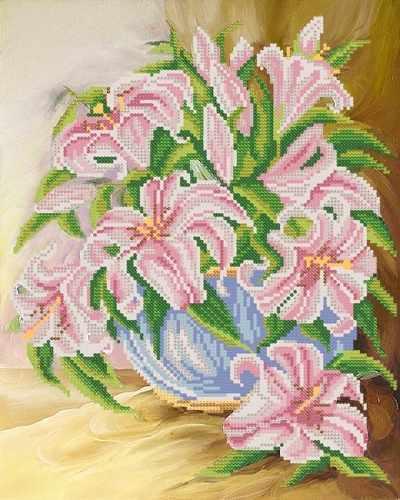 РКП-242 Розовые лилии - схема (Марiчка)