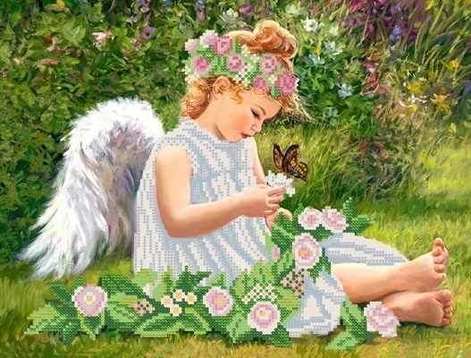 РКП-332 Ангел в саду - схема (Марiчка)