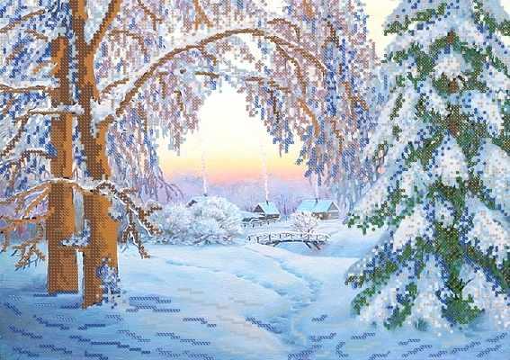 РКП-333 Зимний вечер - схема (Марiчка)