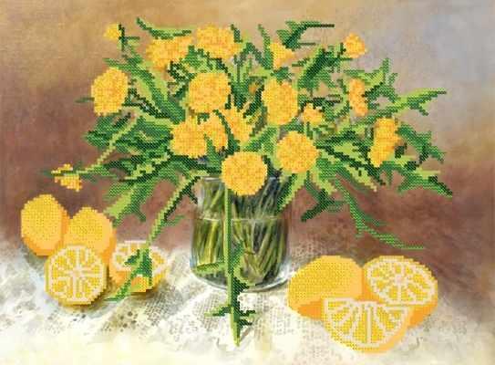 РКП-381 Желтый натюрморт - схема (Марiчка)