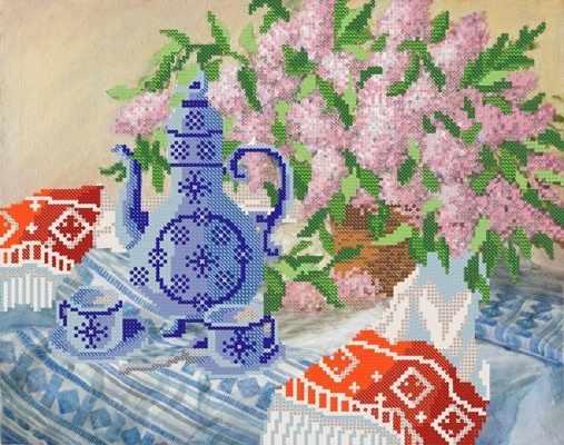 РКП-395 Весеннее чаепитие - схема (Марiчка)