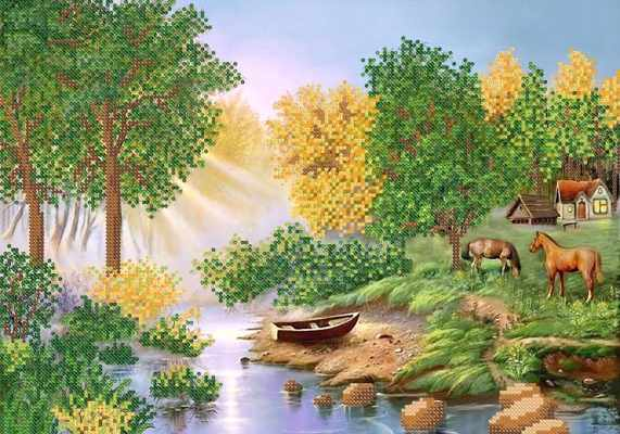 РКП-494 Утро на озере - схема (Марiчка)
