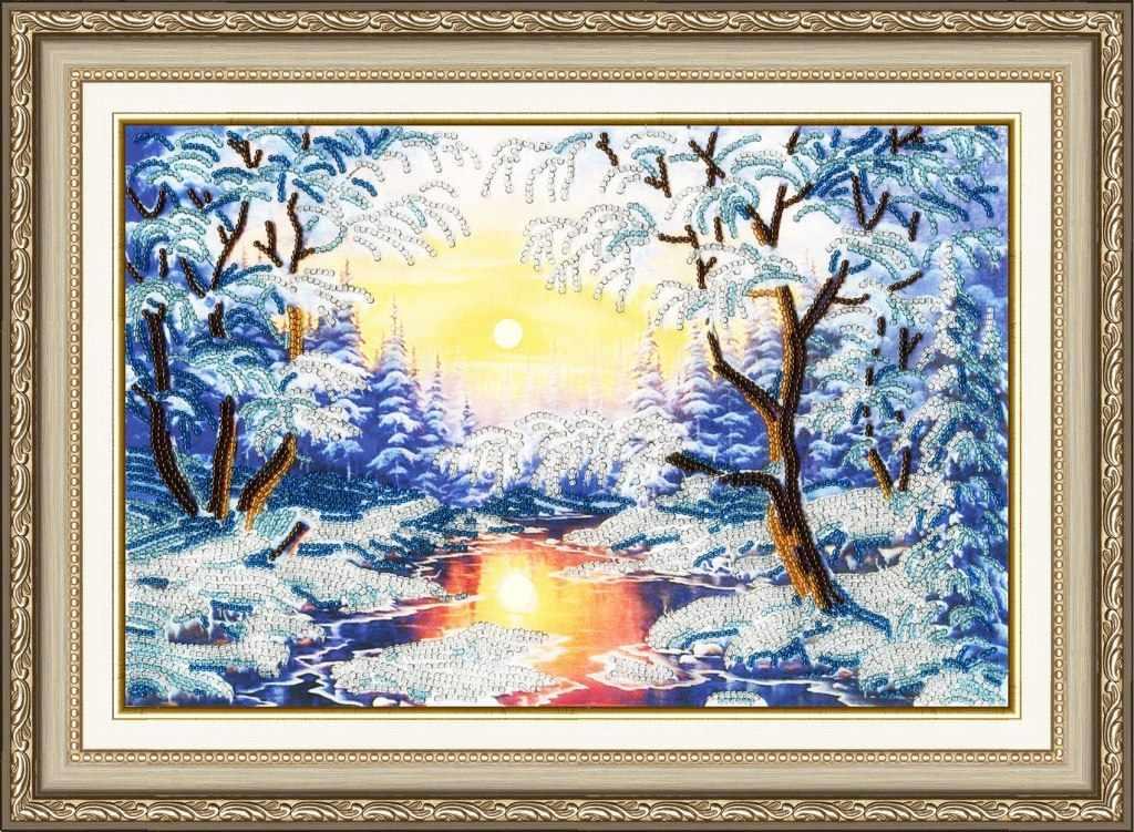 РТ-021 Хрустальный закат. Рисунок на ткани