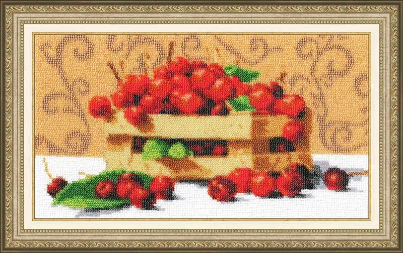 РТ-024 Спелые вишни. Рисунок на ткани
