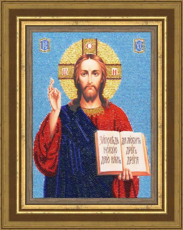РТ-041 Образ Господь Вседержитель (пайетки). Рисунок на ткани