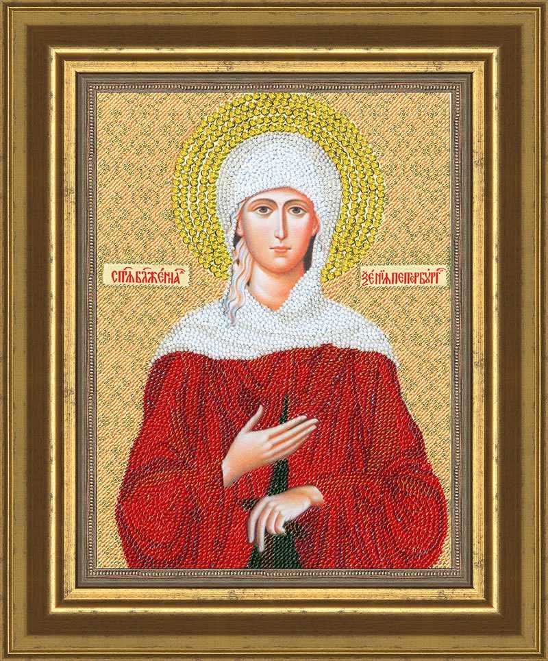 РТ-072 Образ Святой блаженной Ксении.Рисунок на ткани