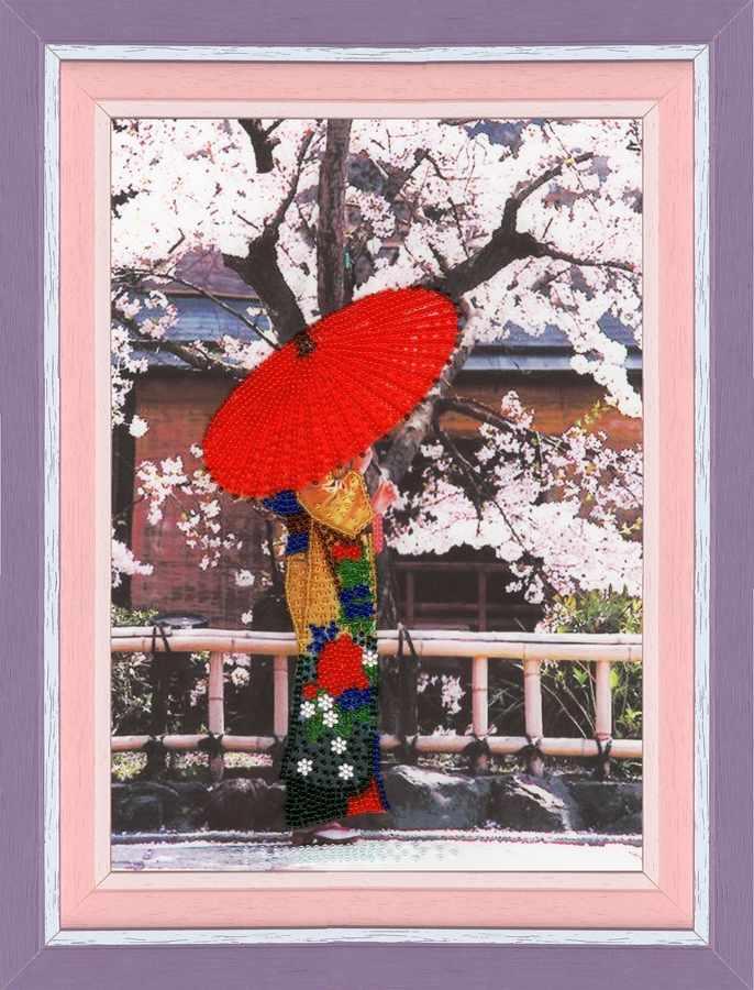 РТ-098 Пышное цветение сакуры. Рисунок на ткани