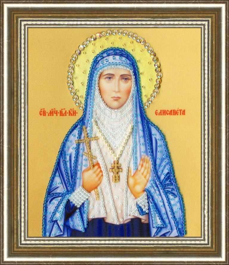 РТ-128 Икона Святой Мученицы Великой Княгини Елизаветы.Рисунок на ткани