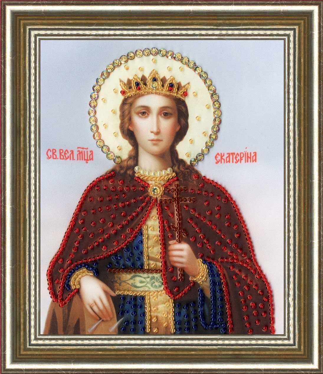 РТ-129 Икона Святой Великомученицы Екатерины.Рисунок на ткани