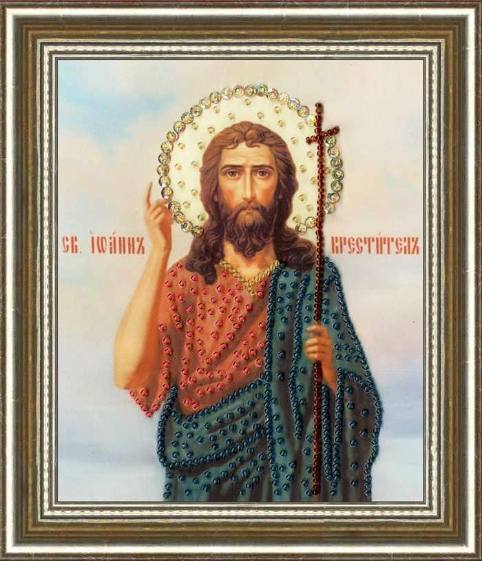 РТ-135 Икона Святого Иоана Крестителя. Рисунок на ткани
