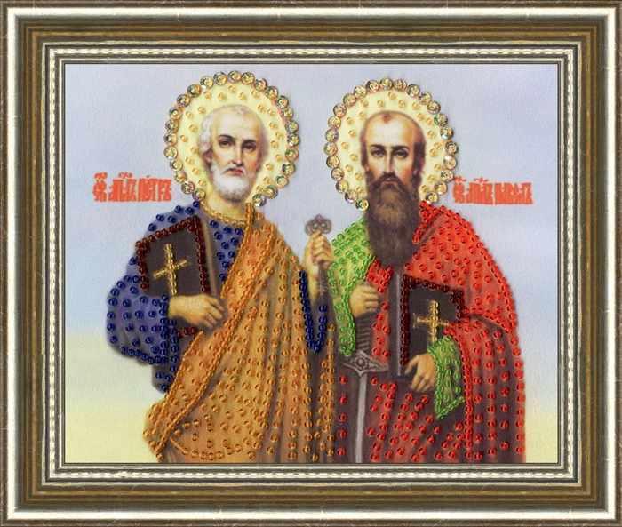 РТ-137 Икона Святых Апосталов Петра и Павла. Рисунок на ткани