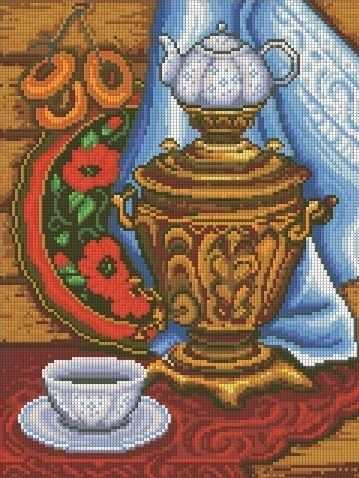 Русское чаепитие (АЖ-1327) - картина стразами