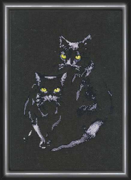 С-006 Кошки.Силуэты