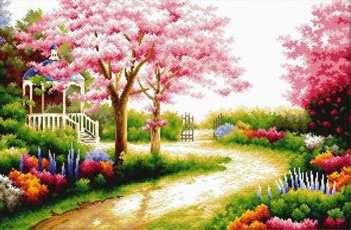 """S-078 """"Весенний сад"""""""