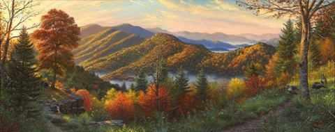 S-516 Утренний пейзаж - мозаика Милато