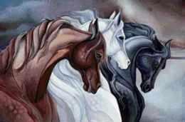 S-532 Тройка лошадей - мозаика Милато