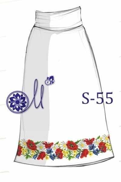 S-55 Заготовка юбки (Мережка)
