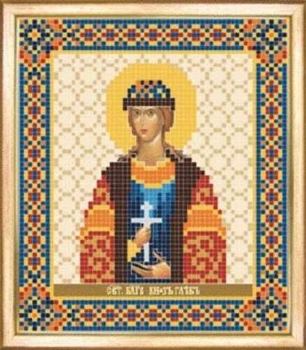 СБИ-089 Св. благоверный князь Глеб - схема для вышивания - чм