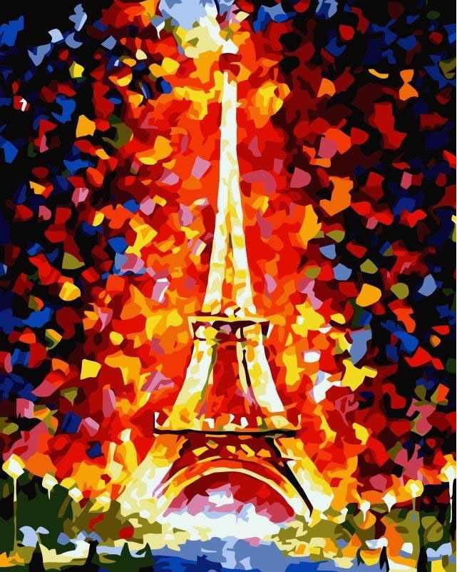 SG121 Эйфелева башня - мозаика из страз (Цветной)