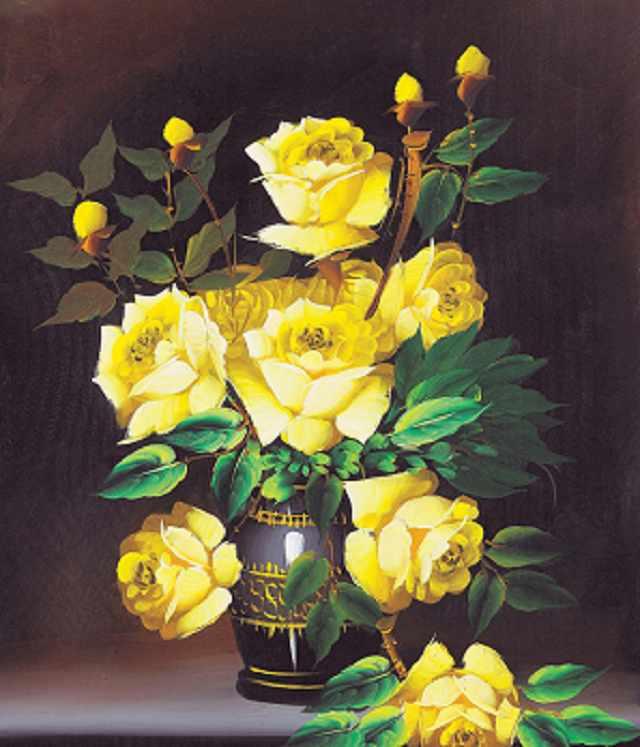 SG123 Желтые розы - мозаика из страз (Цветной)