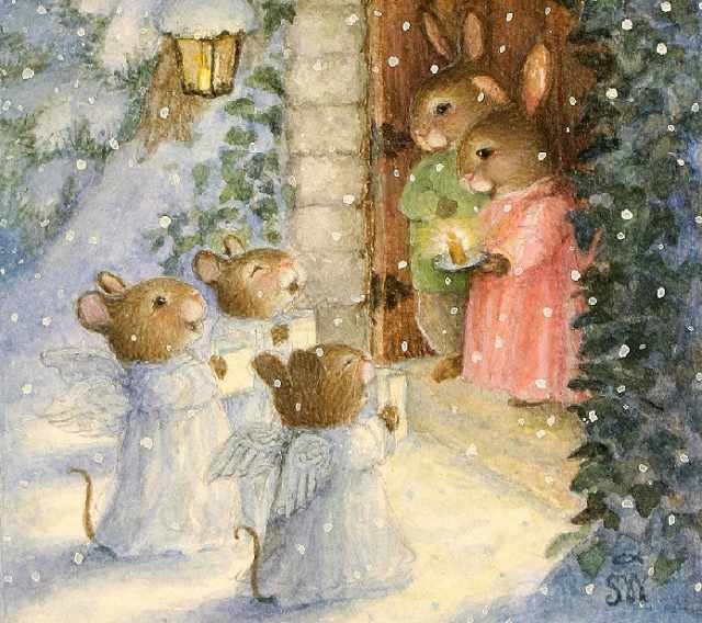 SG193 Мышиное Рождество - мозаика из страз (Цветной)