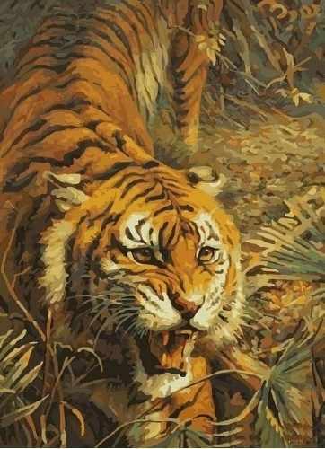 SG195 Свирепый хищник - мозаика из страз (Цветной)