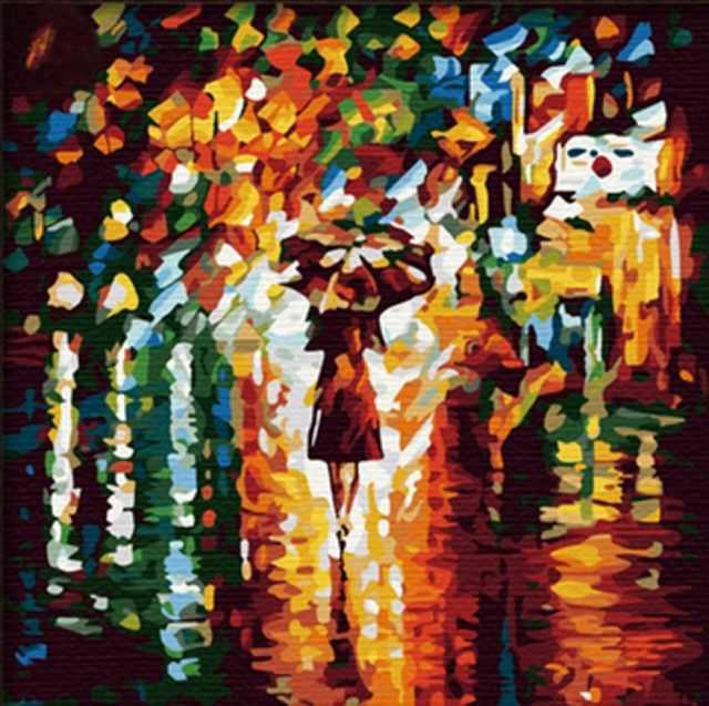 SG514 В дождь - мозаика из страз (Цветной)