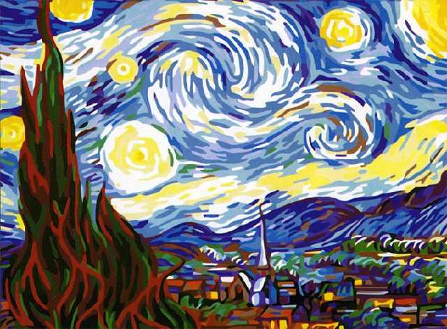 SG527 Звездная ночь - мозаика из страз (Цветной)