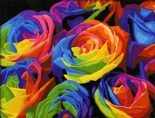 SG536 Радуга - мозаика из страз (Цветной)