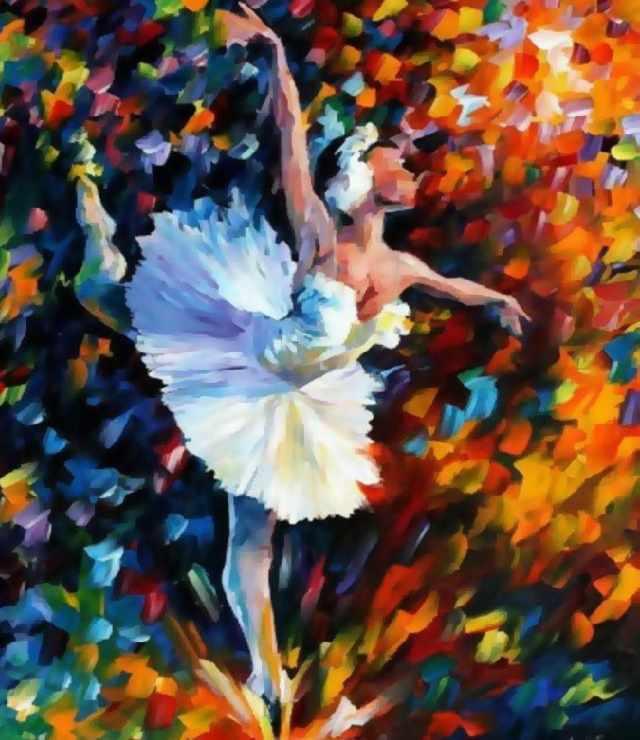 SG567 Танец души - мозаика из страз (Цветной)