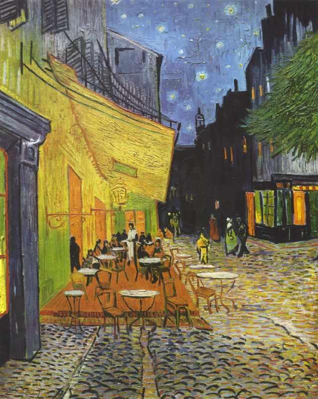 SG569 Ночное кафе Ван Гог - мозаика из страз (Цветной)