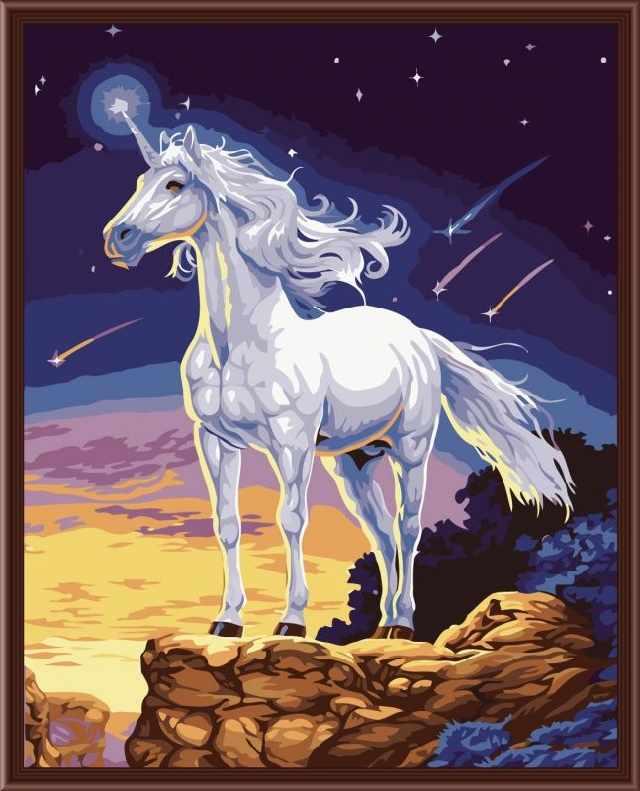 SG620 Единорог - мозаика из страз (Цветной)