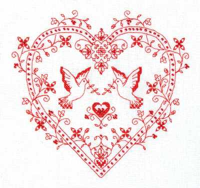 СО-1403 Сердце с голубями