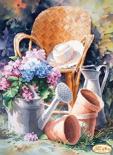 ТА-198 - Садовая романтика - схема (Tela Artis)